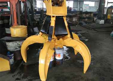 Hydraulic Orange Peel Grab Bucket 0.57 Cum Closed Volume 100-200L/Min Grab Flow